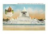 James Scott Fountain, Belle Isle, Detroit, Michigan Prints