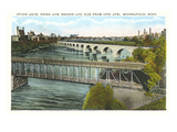 Stone Arch Bridge, Minneapolis, Minnesota Prints
