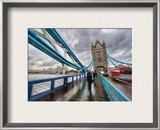 Crossing Tower Bridge in the Rain Framed Photographic Print by Trey Ratcliff