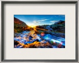 The River's Cool Morning Spray on my Lens Framed Photographic Print by Trey Ratcliff