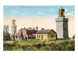 Twin Lighthouses, Highlands, New Jersey Prints