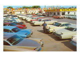 Used Car Lot, Lots of Fins Prints