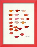 Lips Posters by Andy Warhol