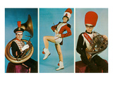 Three Members of the Marching Band Prints
