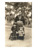 Navajo Mother and Children Print
