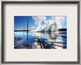 Prismatic Steam in Yellowstone Framed Photographic Print by Trey Ratcliff