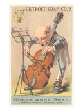 Old Man Playing Cello Print