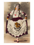 Dancer with Mexican Flag Dress Poster