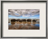 The Mysterious Moeraki Boulders Framed Photographic Print by Trey Ratcliff