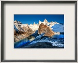 The Two Glacial Lakes of the Southern Andes Framed Photographic Print by Trey Ratcliff