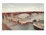 Eads Bridge, Riverboat, St. Louis, Missouri Prints