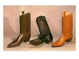 Cowboy Boots, Retro Poster