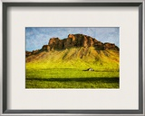 Gentle Green Slopes to Rocky Curved Crags Framed Photographic Print by Trey Ratcliff