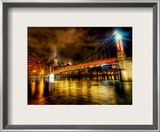 The River that Ran Through Lyon at Midnight Framed Photographic Print by Trey Ratcliff