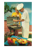 Barbecue, Retro Art