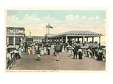 Boardwalk and Esplanade, Asbury Park, New Jersey Prints