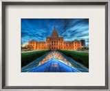 The State Capitol of Texas at Dusk Framed Photographic Print by Trey Ratcliff