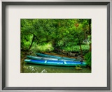 Dragon Boats of Commoners on a Lonely Stream near Hangzhou Framed Photographic Print by Trey Ratcliff