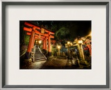 Midnight Adventure in the Japanese Cemetery Framed Photographic Print by Trey Ratcliff
