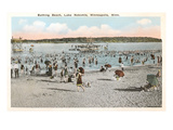 Beach, Lake Nokomis, Minneapolis, Minnesota Print