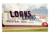 Billboard, Loans, Loans, Loans Print