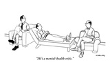 """He's a mental-health critic."" - New Yorker Cartoon Premium Giclee Print by Alex Gregory"