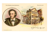 Felix Mendelssohn-Bartholdy and Birthplace Poster