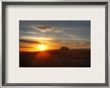 Bright Morning, Stone Hut, Grass Roof Framed Photographic Print by Trey Ratcliff