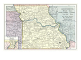 Natural Resources Map of Missouri Prints