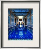 The Azure Blue Indoor Pool at Hearst Castle Framed Photographic Print by Trey Ratcliff