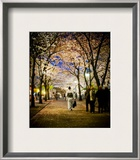 Kimono under the cherry Trees Framed Photographic Print by Trey Ratcliff