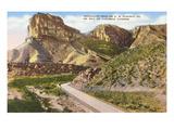Guadalupe Peak, Cavernes de Carlsbad, Nouveau Mexique Affiches