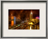The Bund in the Rain Framed Photographic Print by Trey Ratcliff