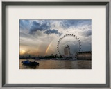 Rainbow over the London Eye Framed Photographic Print by Trey Ratcliff