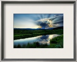 The Atomic Explosion and Mushroom Fallout at Sunset Framed Photographic Print by Trey Ratcliff