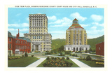Courthouse, City Hall, Asheville, North Carolina Prints