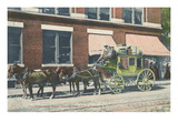 Chesterfield Stagecoach, Keene, New Hampshire Print