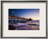 The Surf in LA as Night Passes Framed Photographic Print by Trey Ratcliff