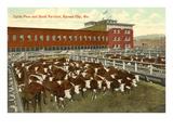 Viehpferch, Kansas City, Missouri Kunstdrucke