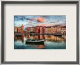 The Bay at Portofino Framed Photographic Print by Trey Ratcliff