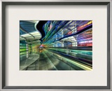 The Underground Peoplemover to the International Terminal Framed Photographic Print by Trey Ratcliff