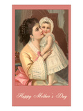 Happy Mothers Day, Victorian Mother and Child Print