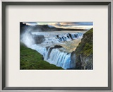Alone at the Raging Waterfall of Gulfoss Framed Photographic Print by Trey Ratcliff