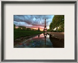Reflections on the Eiffel Tower Framed Photographic Print by Trey Ratcliff