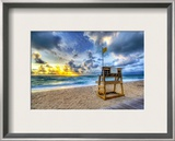 Alone at the Beach Framed Photographic Print by Trey Ratcliff