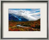About to cross the stream on the hike, approaching the blue glacier Framed Photographic Print by Trey Ratcliff