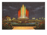 Fountain of Light, Atlantic City, New Jersey Poster