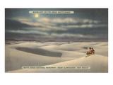 Mond über White Sands, Neu-Mexiko Kunstdrucke