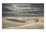 Moon over White Sands, New Mexico Art