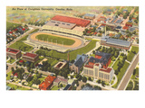 Aerial View, Creighton University, Omaha, Nebraska Art